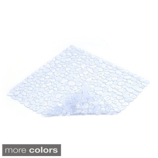 Con-Tact Brand Clear Pebble Shower Mat 21'' x 21'' (Set of 4)