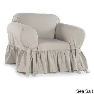 Ruffled Cotton Arm Chair Slipcover