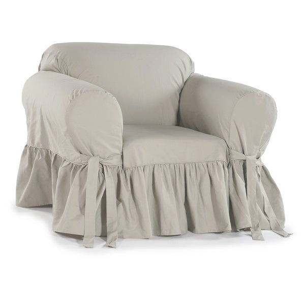 Exceptionnel Ruffled Cotton Arm Chair Slipcover