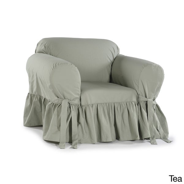 covers source ruffled cotton arm chair slipcover free shipping today