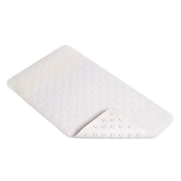 Con-Tact White Geo Rubber Bath Mat 27.25'' x 15.5'' (Set of 4)