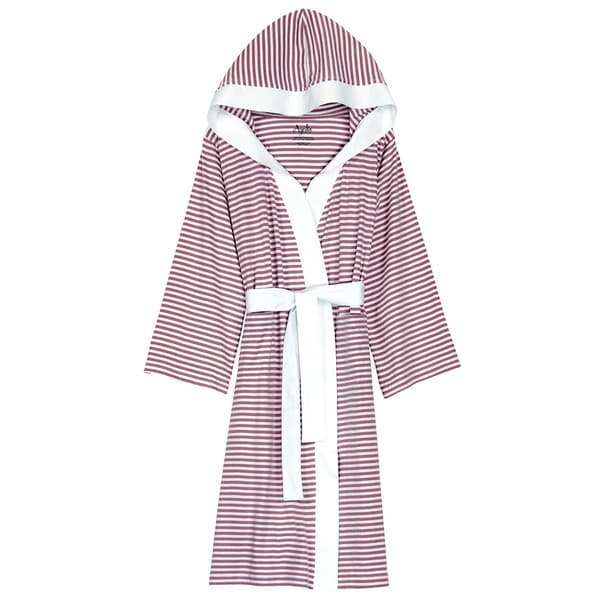 Shop Women s Organic Cotton White and Lavender Stripe Bath Robe - On Sale -  Free Shipping Today - Overstock - 9467160 50f3c0db6