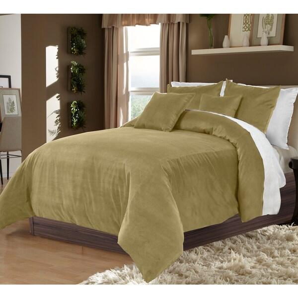 Grand Luxe 100-percent Cotton Velvet Soft Luxury Duvet Set