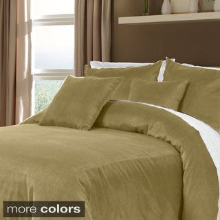 Grand Luxe 100-percent Cotton Velvet Soft Luxury Duvet Set