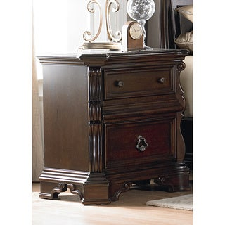 Brownstone Traditional 2-Drawer Nightstand