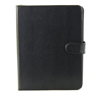 Black Pebbled Vinyl iPad Case with Bluetooth Keyboard