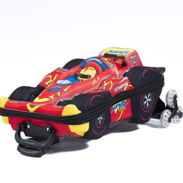 Maxi's Designs Children's 3D Super Power F1 3-wheel Rolling Suitcase