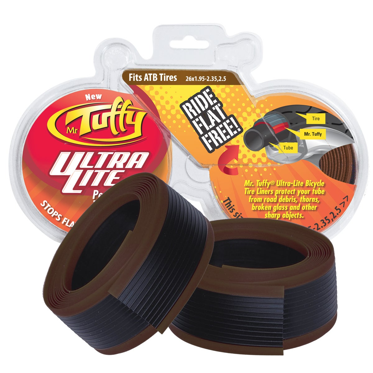 Mr Tuffy Ultra Lite Bicycle Tire Liner (Orange)