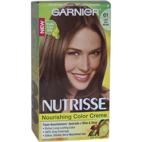 Garnier Nutrisse Nourishing Color Creme 61 Light Ash Brown Hair