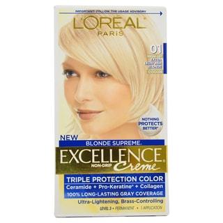 L'Oreal Paris Excellence Creme Blonde Supreme 01 High-Lift Extra Light Ash Blonde Cooler