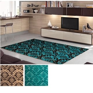 Admire Home Living Demi Leaf Area Rug (5'5 x 7'7)