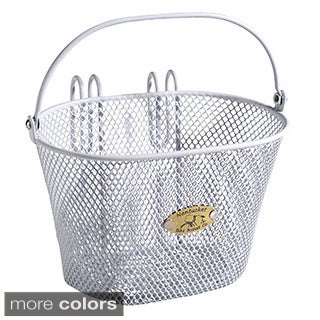 Nantucket Bicycle Basket Co. Surfside Children's Mesh Bicycle Basket with Handle