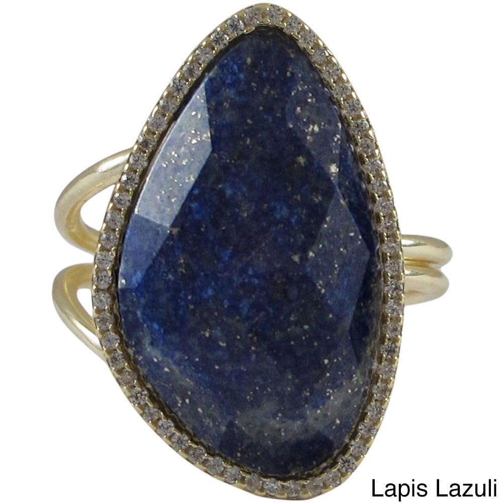 Golden Lapis Lazuli Collier 925 Sterling Silver