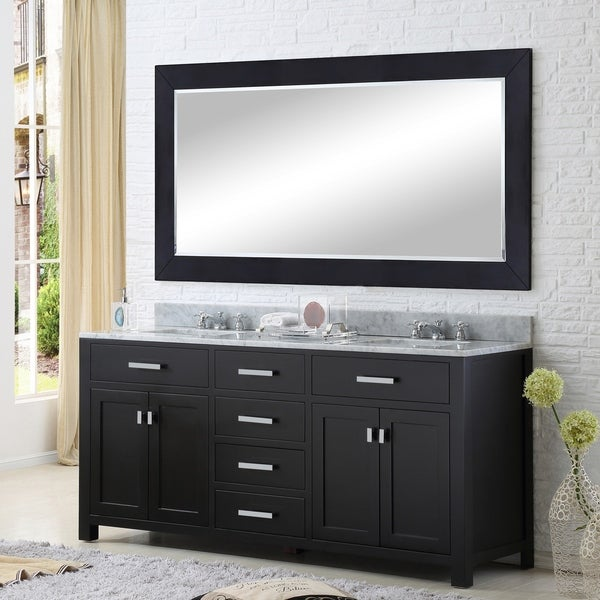 Water Creation Madison 60-inch Espresso Double Sink Bathroom Vanity