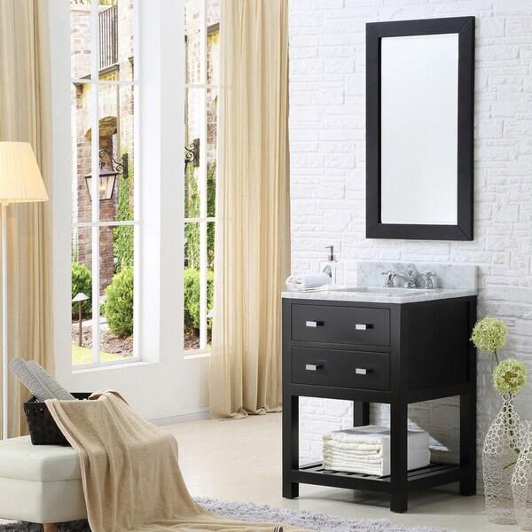 Water Creation Madalyn 24-inch Espresso Single Sink ...