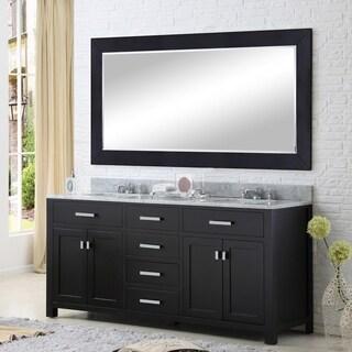 Water Creation Madison 72-inch Espresso Double Sink Bathroom Vanity