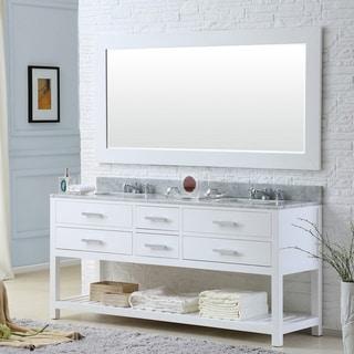 Link to Water Creation Madalyn 72-inch Solid White Double Sink Bathroom Vanity Similar Items in Bathroom Vanities