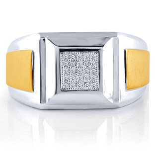 Bridal Symphony Men's Bridal Symphony Sterling Silver 1/10ct TDW Diamond Ring (I-J, I2-I3)