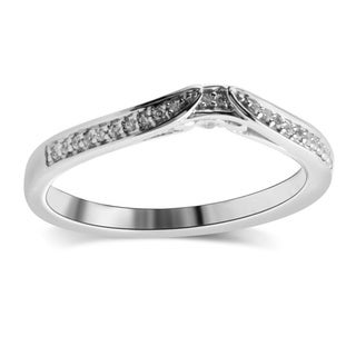 Bridal Symphony Sterling Silver 1/10ct TDW Diamond Wrap Guard Ring