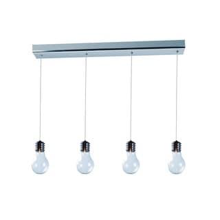 Edison 4-light Chrome Linear Pendant