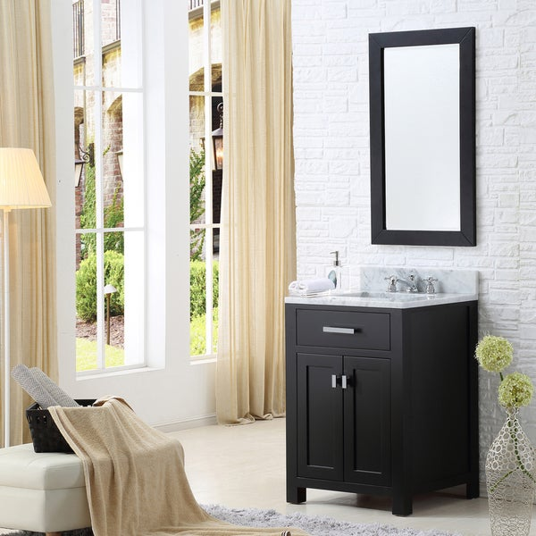Water Creation Madison 24-inch Espresso Single Sink Bathroom Vanity. Opens flyout.