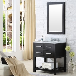 Water Creation Madison 30-inch Espresso Single Sink Bathroom Vanity
