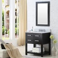 Water Creation Madison 30-inch Espresso Single Sink Bathroom Vanity