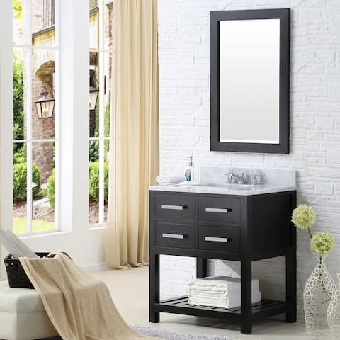 Water Creation Madalyn 30-inch Espresso Single Sink Bathroom Vanity