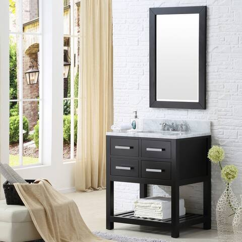 Water Creation Madalyn 30-inch Espresso Single Sink Bathroom Vanity