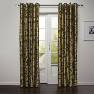 Mikassa Collection Faux Silk Grommet Top Curtain Panel
