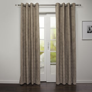 Bergamo Collection Chenille Grommet Top 88-inch Curtain Panel