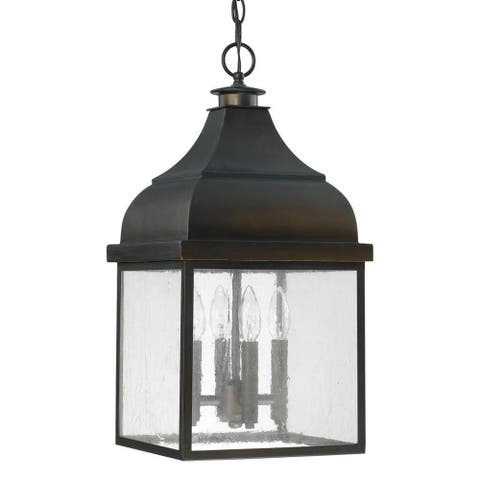Westride 4-light Old Bronze Outdoor Hanging Lantern
