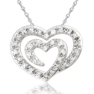 Bridal Symphony 14kWhite Gold 1/10ct TDW Diamond Pendant