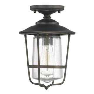 Capital Lighting Creekside Collection 1-light Old Bronze Outdoor Ceiling Flush Mount