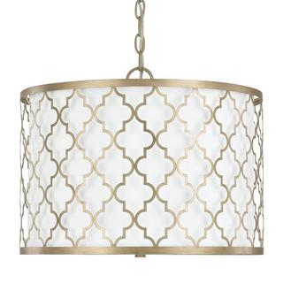 Capital Lighting Ellis Collection 3-light Brushed Gold Dual Mount Pendant