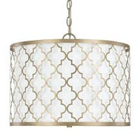 Capital Lighting Ellis Collection 3-light Brushed Gold Dual Mount Pendant - N/A