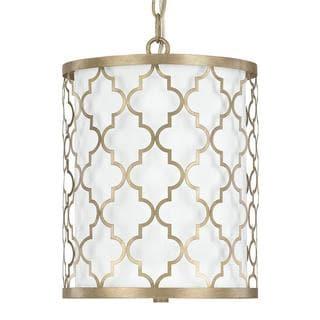 Link to Ellis 2-light Brushed Gold Pendant - Brushed Gold - Brushed Gold Similar Items in Pendant Lights
