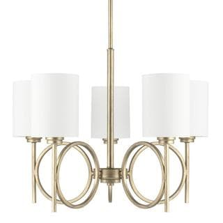 Capital Lighting Halo Collection 5-light Winter Gold Chandelier