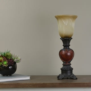 Laurel Creek Graysen Red and Brown Uplighting Fixture
