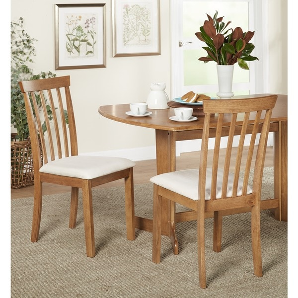 Beau Simple Living Benton Slat Back Dining Chairs, Set Of 2