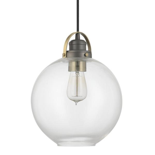 Capital Lighting Urban Collection 1 Light Graphite With Aged Brass Mini Pendant Free Shipping