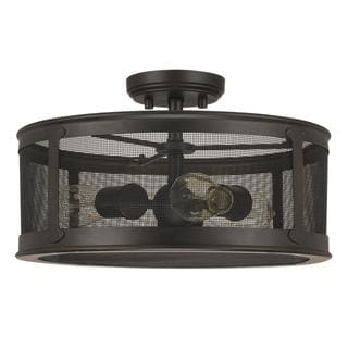 Capital Lighting Dylan Collection 3-light Old Bronze Outdoor Semi Flush