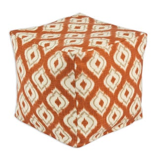 Macie Pumpkin Zippered Beads Pouf