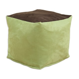 Passion Suede Celery Zippered Pouf