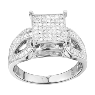 Sterling Silver 2/5ct TDW Diamond Engagement Ring (G-H, I2-I3)