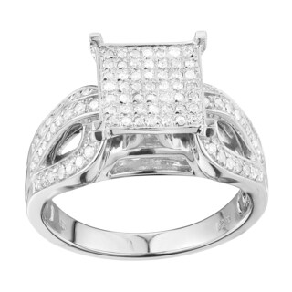 Sterling Silver 2/5ct TDW Diamond Engagement Ring