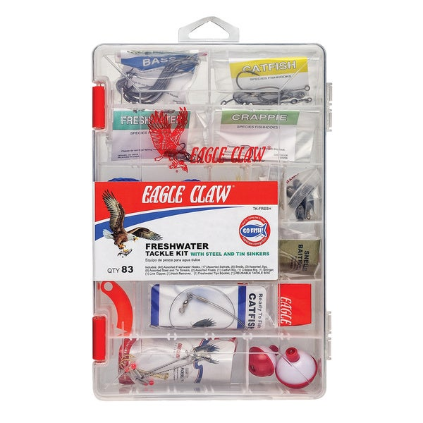Eagle Claw 83-piece Freshwater Tackle Kit