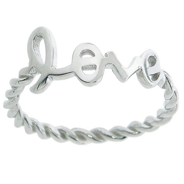 Eternally Haute Sterling Silver Braided Love Ring