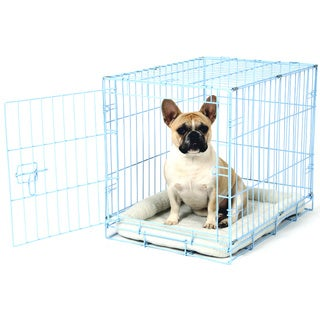 Carlson Blue Compact and Secure Metal Dog Crate