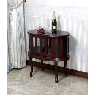 D-Art Oval Mahogany Wood Tea Table (Indonesia)